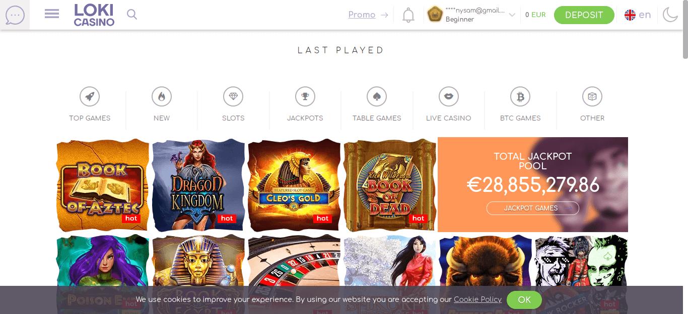 المكافآت والعروض الترويجية في Loki Casino